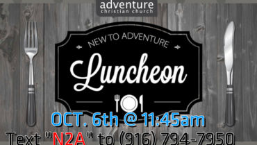 New To Adventure Luncheon