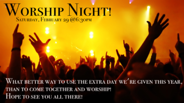 Worship Night: One More Day